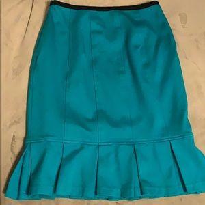 EUC Nanette Lepore turquoise pencil skirt, Size 2